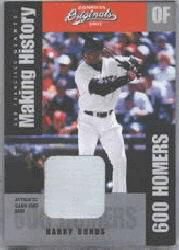 2002 Donruss Originals Making History Materials #5 Barry Bonds Base