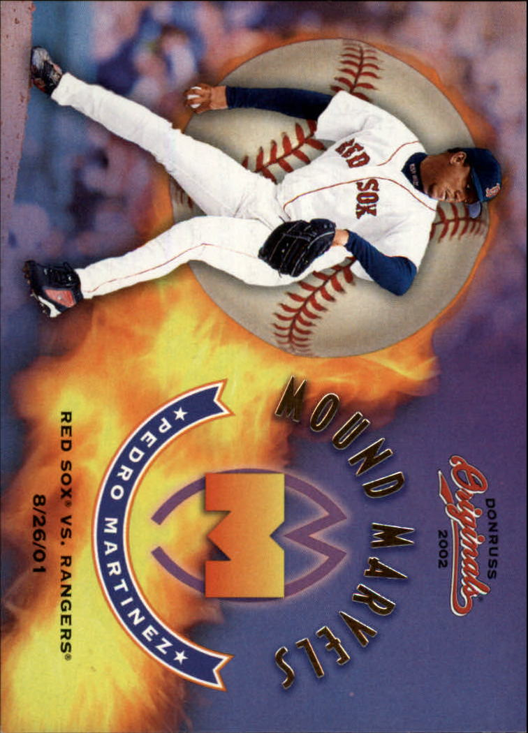 2002 Donruss Originals Mound Marvels #3 Pedro Martinez