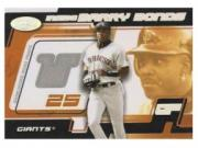 2002 Hot Prospects Inside Barry Bonds Memorabilia #2 B.Bonds Away Pants/900