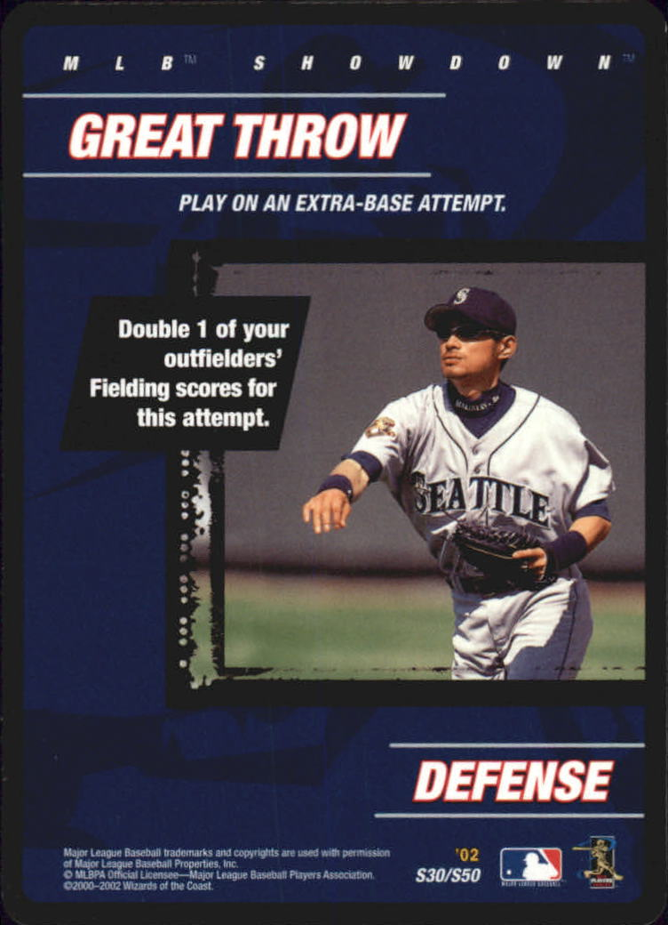 2002 MLB Showdown Strategy #S30 Great Throw/I.Suzuki
