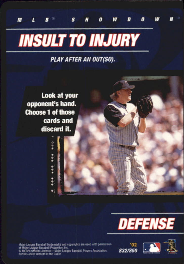 2002 MLB Showdown Strategy #S32 Insult to Injury/C.Schilling