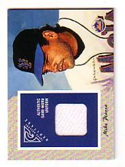 2002 Topps Gallery Heritage Uniform Relics #GHRMP Mike Piazza 93 A