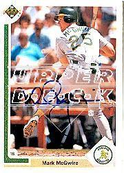 2002 Upper Deck 40-Man Mark McGwire Autograph Buybacks #4 Mark McGwire 91/6