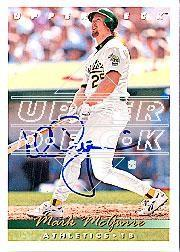 2002 Upper Deck 40-Man Mark McGwire Autograph Buybacks #7 Mark McGwire 93/6