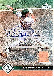 2002 Upper Deck 40-Man Mark McGwire Autograph Buybacks #15 Mark McGwire 97 GHL/2