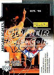 2002 Upper Deck 40-Man Mark McGwire Autograph Buybacks #25 Mark McGwire 99 SH CL2/6