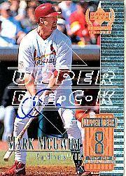 2002 Upper Deck 40-Man Mark McGwire Autograph Buybacks #26 Mark McGwire 99 CEN/6