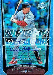 2002 Upper Deck 40-Man Mark McGwire Autograph Buybacks #28 Mark McGwire 99 ENC/6