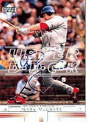 2002 Upper Deck 40-Man Mark McGwire Autograph Buybacks #42 Mark McGwire 02/4