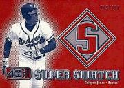2002 Upper Deck 40-Man Super Swatch #SCJ Chipper Jones