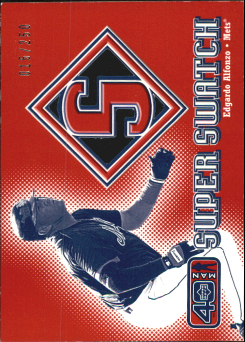 2002 Upper Deck 40-Man Super Swatch #SEA Edgardo Alfonzo
