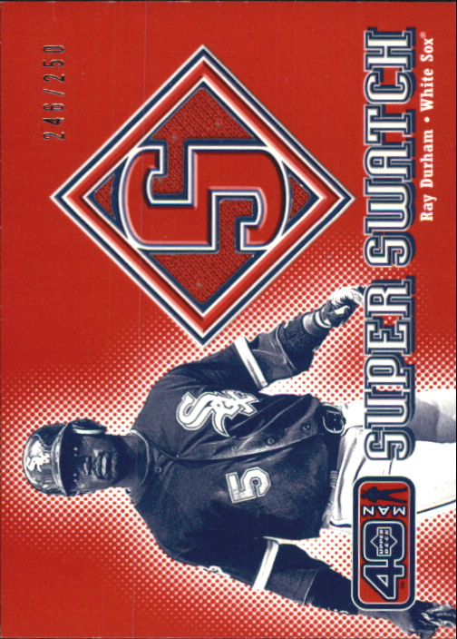 2002 Upper Deck 40-Man Super Swatch #SRD Ray Durham