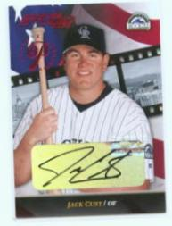 2002 Studio Private Signings #59 Jack Cust/250