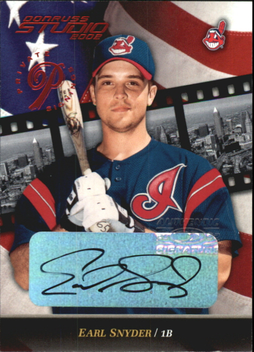 2002 Studio Private Signings #180 Earl Snyder/250