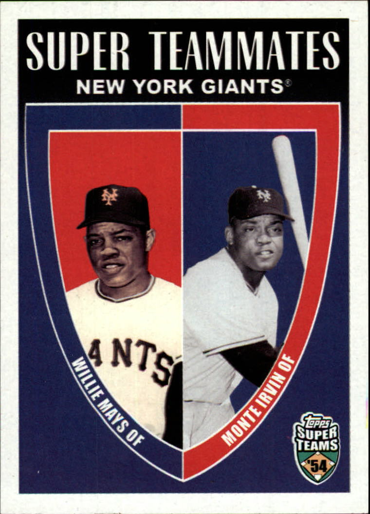 2002 Topps Super Teams Teammates #STMI Willie Mays/Monte Irvin