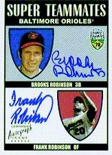 2002 Topps Super Teams Teammates Autographs #RRA Brooks Robinson/Frank Robinson