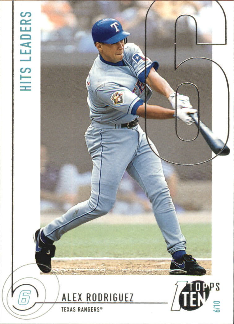 2002 Topps Ten #6 Alex Rodriguez HITS