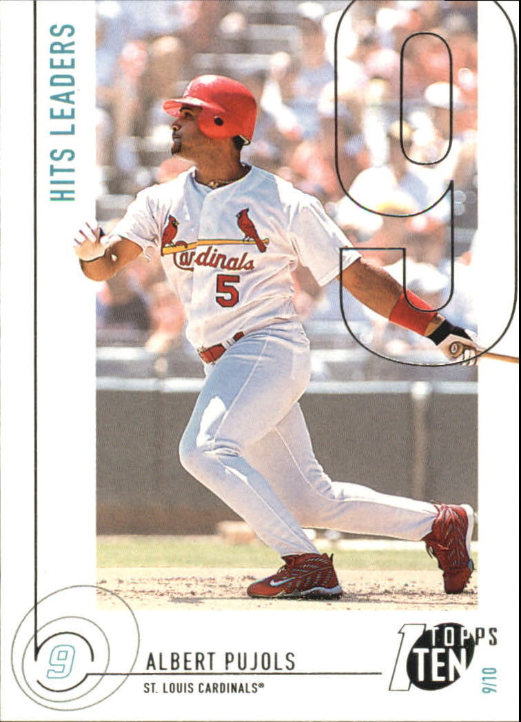 2002 Topps Ten #10 Albert Pujols HITS