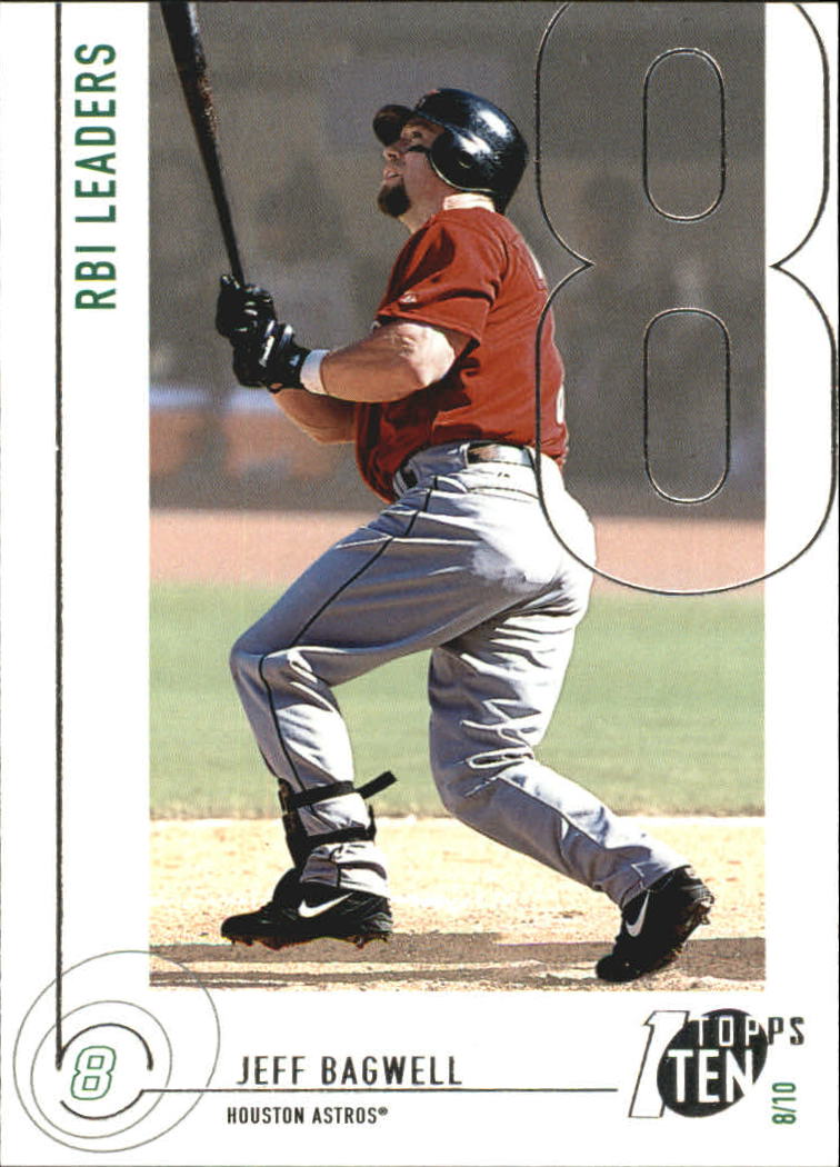 2002 Topps Ten #49 Jeff Bagwell RBI