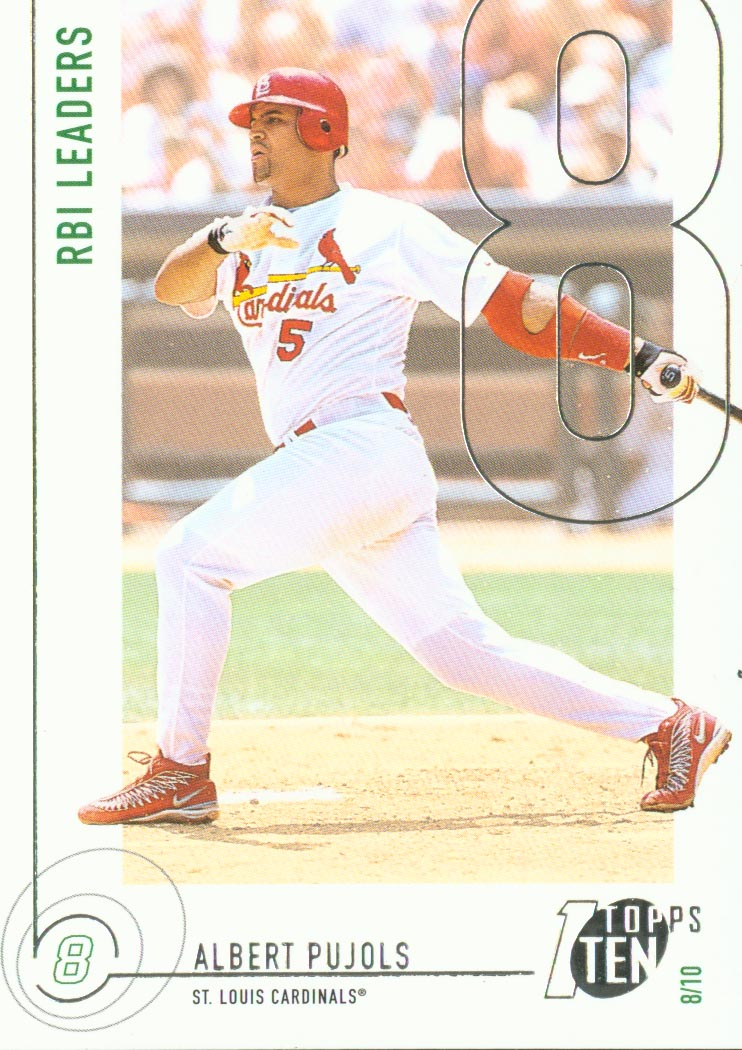 2002 Topps Ten #50 Albert Pujols RBI