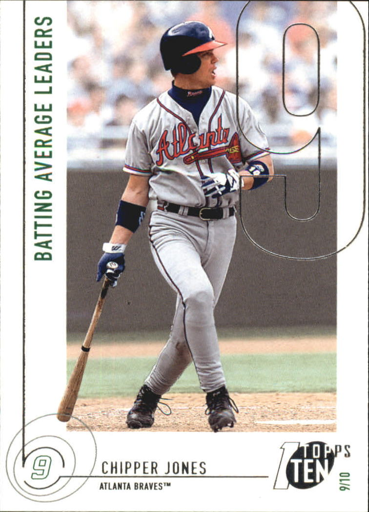 2002 Topps Ten #61 Chipper Jones AVG
