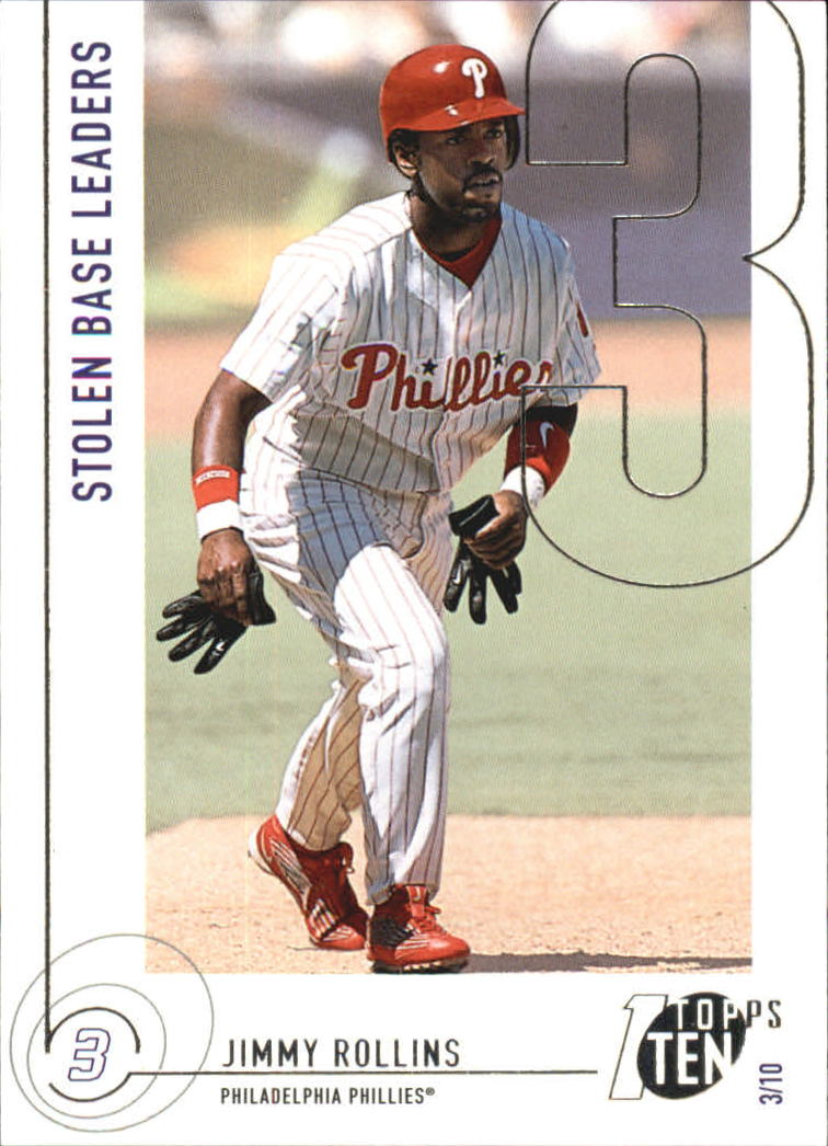 2002 Topps Ten #75 Jimmy Rollins SB