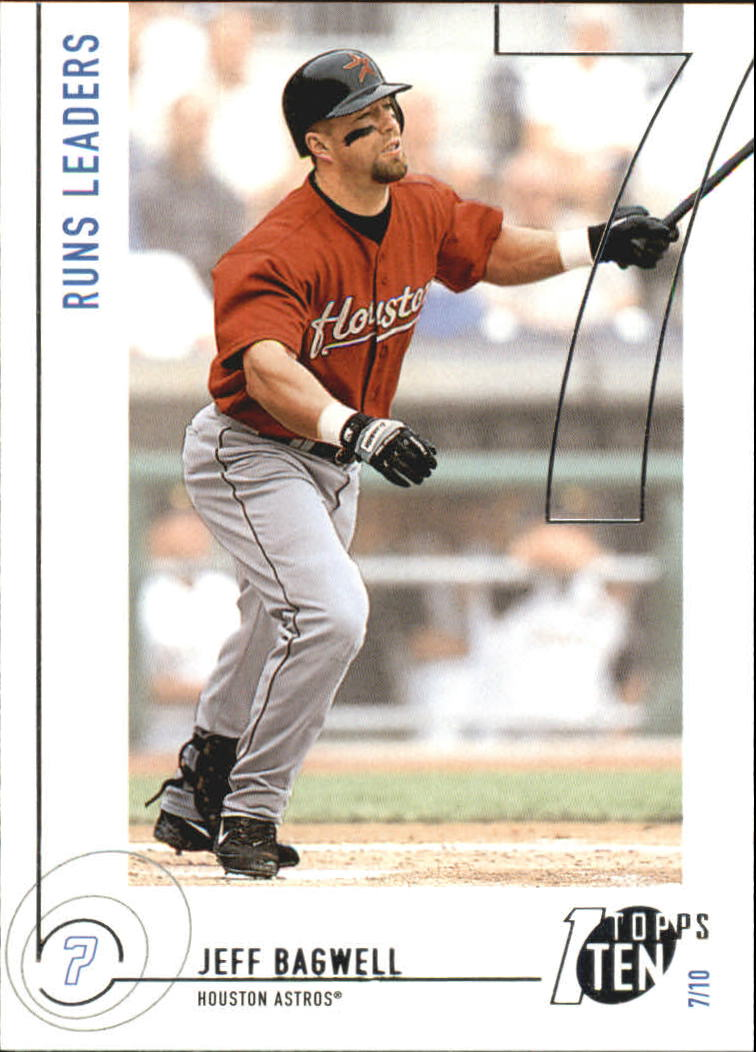 2002 Topps Ten #88 Jeff Bagwell RUNS