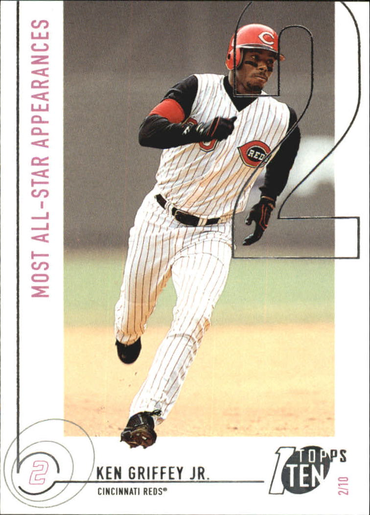 2002 Topps Ten #114 Ken Griffey Jr. AS APP