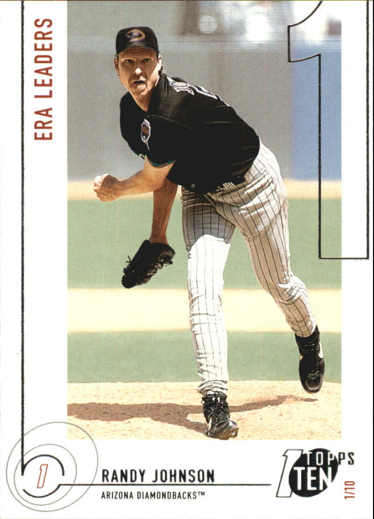 2002 Topps Ten #141 Randy Johnson ERA front image