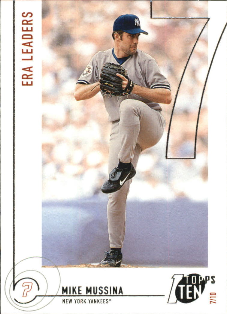 2002 Topps Ten #147 Mike Mussina ERA