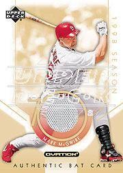 2002 Upper Deck Ovation Authentic McGwire Signatures #AMSB Mark McGwire Bat