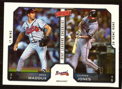 2002 Upper Deck Victory #266 C.Jones/G.Maddux