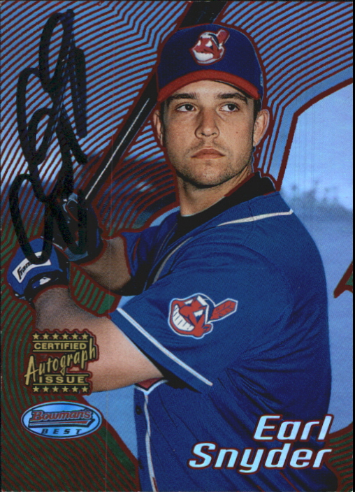 2002 Bowman's Best Red #175 Earl Snyder AU