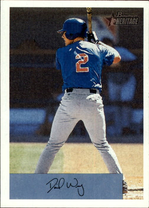 2002 Bowman Heritage #182 David Wright RC