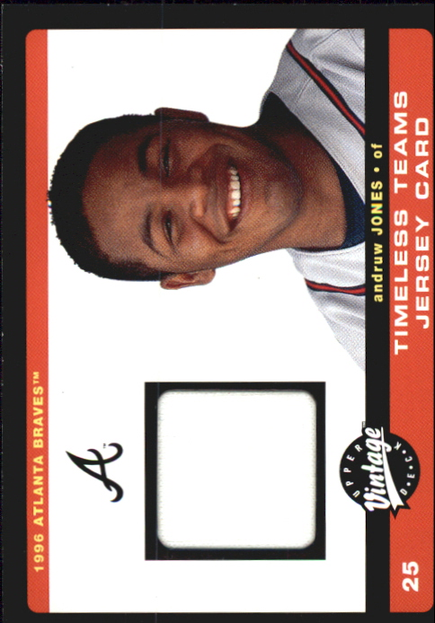 2002 Upper Deck Vintage Timeless Teams Game Jersey #JAJ Andruw Jones Jsy