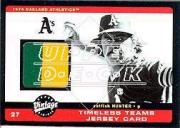 2002 Upper Deck Vintage Timeless Teams Game Jersey #JCH Catfish Hunter Jsy