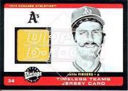2002 Upper Deck Vintage Timeless Teams Game Jersey #JRF Rollie Fingers Jsy
