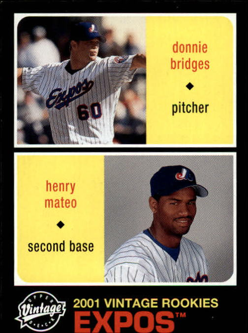 2002 Upper Deck Vintage #197 D.Bridges/H.Mateo