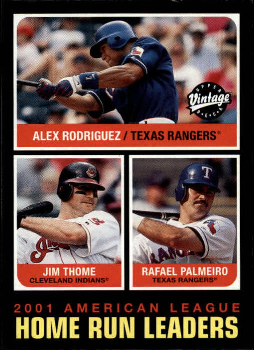 2002 Upper Deck Vintage #273 A.Rod/Thome/Palmeiro LL