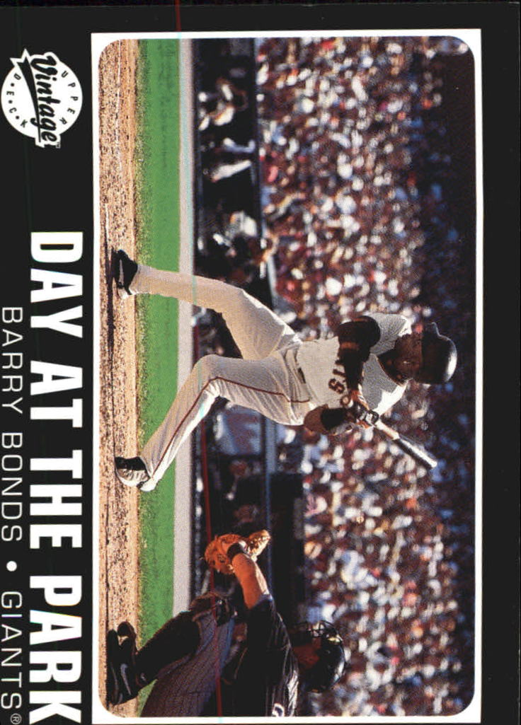 2002 Upper Deck Vintage Day At The Park #DP5 Barry Bonds