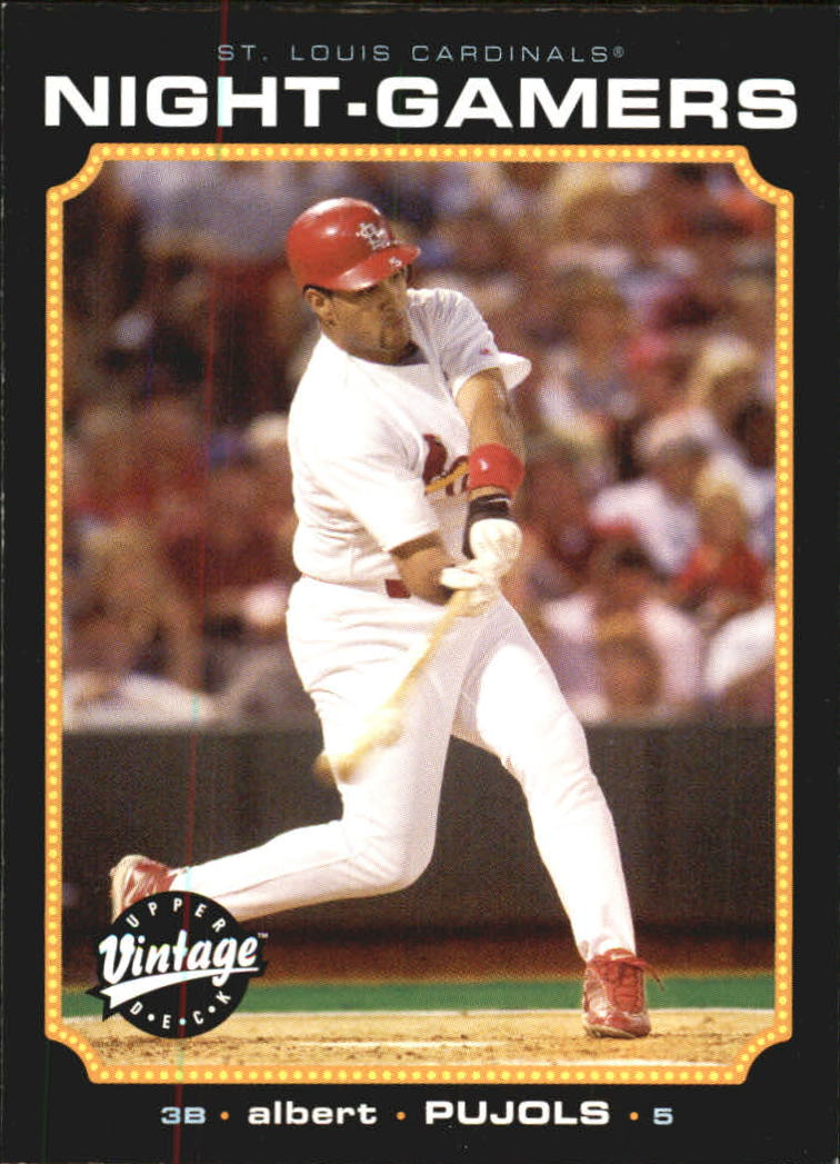 2002 Upper Deck Vintage Night Gamers #NG4 Albert Pujols