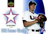 2002 Upper Deck Rookie Update USA Future Watch Swatches #MA Michael Aubrey