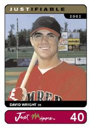 2002-03 Justifiable #40 David Wright