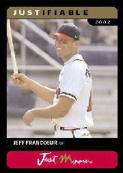 2002-03 Justifiable Black #45 Jeff Francoeur