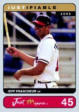 2002-03 Justifiable Silver #45 Jeff Francoeur