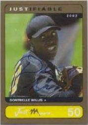 2002-03 Justifiable Autographs Gold #50 Dontrelle Willis