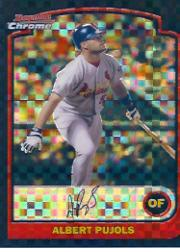 2003 Bowman Chrome X-Fractors #24 Albert Pujols