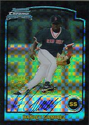 2003 Bowman Chrome X-Fractors #334 Hanley Ramirez AU A
