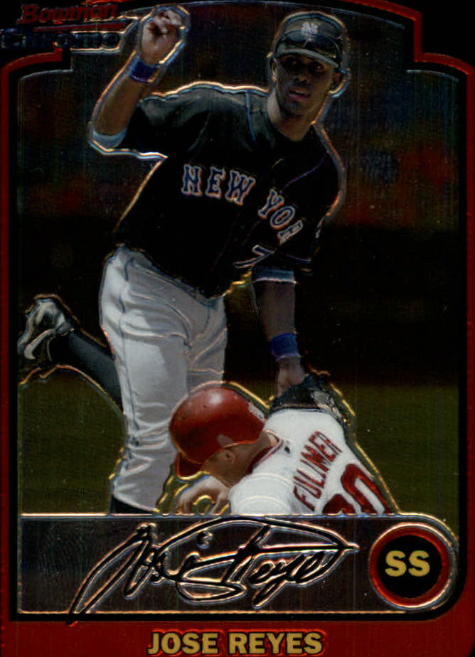 2003 Bowman Chrome Draft #28 Jose Reyes