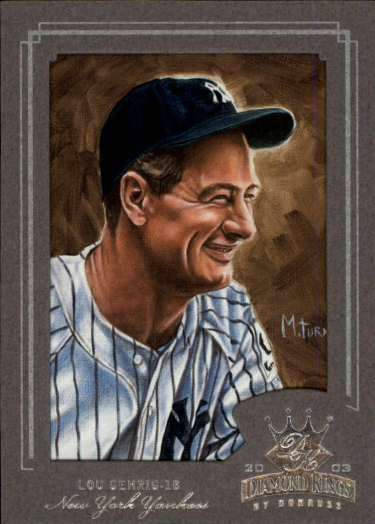 2003 Diamond Kings Silver Foil #162 Lou Gehrig RET